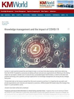 kmworld article